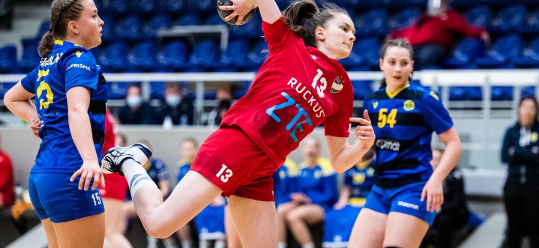 Käsipallon Naisten SM-sarjan 3. välieräottelu HIFK - KyIF, Helsingin Urheilutalo, 5. huhtikuuta 2021.