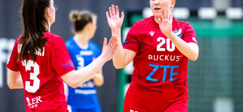 Käsipallon Naisten SM-sarjan 1. finaaliottelu HIFK - Dicken, Helsingin Urheilutalo, 16. huhtikuuta 2021.